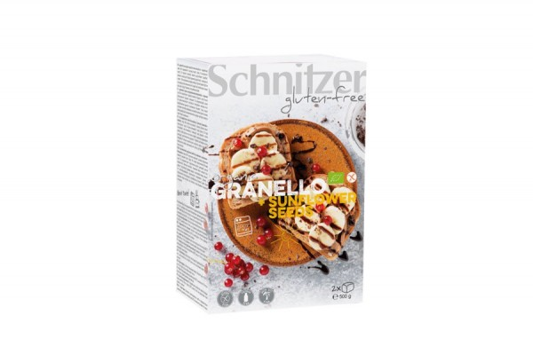 Granello+Sunflower Seeds Brot, bio, 1 2x250g